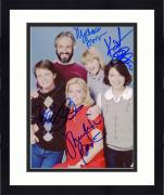 """Framed Family Ties Autographed 8"""" x 10"""" Family Picture Photograph With Multiple Signatures - Beckett LOA"""