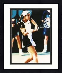 Framed Mary Joe Fernandez Autographed 8'' x 10'' Swinging Racquet Photograph