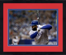 "Framed Prince Fielder Texas Rangers Autographed 16"" x 20"" Horizontal Gray Jersey Photograph"