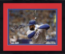 "Framed Prince Fielder Texas Rangers Autographed 8"" x 10"" Horizontal Grey Uniform Photograph"