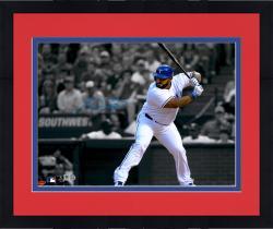 "Framed Prince Fielder Texas Rangers Autographed 11"" x 14"" Spotlight Photograph"