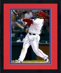 "Framed Prince Fielder Texas Rangers Autographed 16"" x 20"" Vertical White Jersey Photograph"