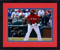 "Framed Prince Fielder Texas Rangers Autographed 16"" x 20"" Pre-Swing Photograph"