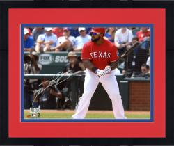 "Framed Prince Fielder Texas Rangers Autographed 8"" x 10"" Pre-Swing Photograph"