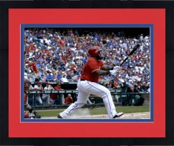 "Framed Prince Fielder Texas Rangers Autographed 16"" x 20"" Swinging Photograph"