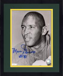 Framed Marv Fleming Green Bay Packers Fanatics Authentic Autographed 8'' x 10'' Black and White Close Up Photograph