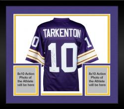 Framed Fran Tarkenton Minnesota Vikings Autographed Proline Purple Jersey with HOF 86 Inscription