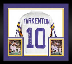 Framed Fran Tarkenton Minnesota Vikings Autographed Proline White Jersey with HOF 86 Inscription