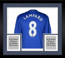 Framed Frank Lampard Chelsea F.C. Autographed Blue Home Back Jersey - Mounted Memories