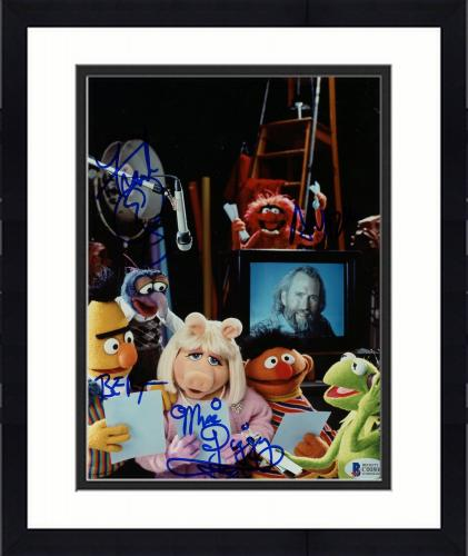 "Framed Frank Oz Autographed 8"" x 10"" The Muppets Characters Photograph With Miss Piggy & Bert Inscription - BAS COA"