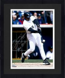 "Framed Frank Thomas Chicago White Sox Autographed 16"" x 20"" Hit Ball Photograph with HOF 2014 Inscription"