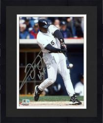 "Framed Frank Thomas Chicago White Sox Autographed 8"" x 10"" Hit Ball Photograph with HOF 2014 Inscription"