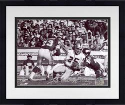 Framed Fred Biletnikoff Oakland Raiders Autographed 8'' x 10'' Going Down Photograph with SB VI MVP Inscription
