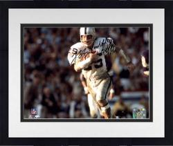 "Framed Fred Biletnikoff Oakland Raiders Autographed 8"" x 10"" Horizontal Running Photograph with HOF 88 Inscription"