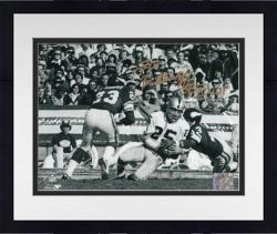 Framed Fred Biletnikoff Oakland Raiders Autographed 8'' x 10'' Horizontal Touchdown Photograph with SB XI MVP Inscription