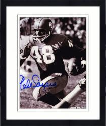 Framed Gale Sayers Kansas Jayhawks Autographed 8'' x 10'' B&W Photograph