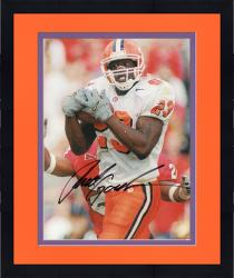 Framed Fanatics Authentic Autographed Rod Gardner Clemson Tigers 8'' x 10'' Tackled White Jersey Photograph