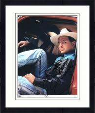 """Framed Garth Brooks Autographed 8"""" x 10"""" Layed Back Sitting in Truck Photograph - Beckett COA"""