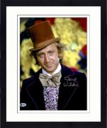 "Framed Gene Wilder Autographed 11"" x 14"" Willy Wonka And The Chocolate Factory - Wearing Top Hat Photograph - Beckett COA"