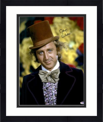 "Framed Gene Wilder Autographed 16"" x 20"" Willy Wonka Photograph - PSA/DNA COA"