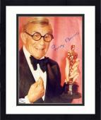 "Framed George Burns Autographed 8"" x 10"" Holding Oscar Award Photograph - JSA"