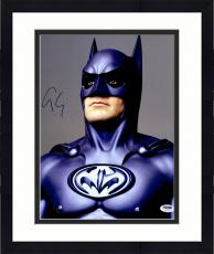 "Framed George Clooney Autographed 11""x 14"" Batman Forever Looking Up  Photograph - PSA/DNA COA"