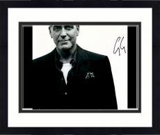 "Framed George Clooney Autographed 11""x 14"" Black Shirt With White Background Photograph - PSA/DNA COA"