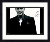 """Framed George Clooney Autographed 11""""x 14"""" Black Shirt With White Background Photograph - PSA/DNA COA"""