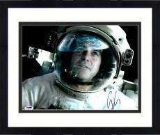 "Framed George Clooney Autographed 11""x 14"" Gravity Astronaut Helmet Photograph - PSA/DNA COA"