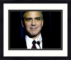 "Framed George Clooney Autographed 11""x 14"" Ides of March Smiling Photograph - PSA/DNA COA"