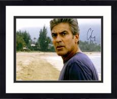 "Framed George Clooney Autographed 11""x 14"" The Descendants Standing On The Beach Photograph - PSA/DNA COA"