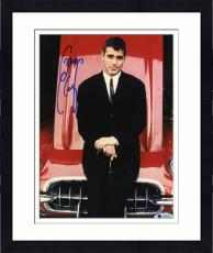 "Framed George Clooney Autographed 8""x 10"" Standing in Front of Red Car Photograph - Beckett COA"