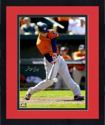 Framed George Springer Houston Astros Autographed 16'' x 20'' Hitting Baseball Photograph