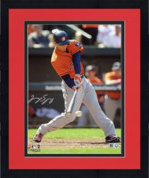 Framed George Springer Houston Astros Autographed 8'' x 10'' Hitting Baseball Photograph