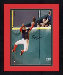Framed George Springer Houston Astros Autographed 8'' x 10'' Wall Catch Photograph