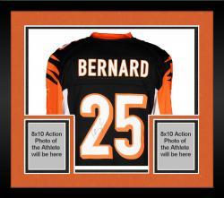 Framed Giovani Bernard Cincinnati Bengals Autographed Nike Replica Black Jersey