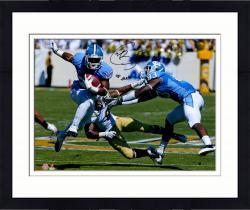 "Framed Giovani Bernard North Carolina Tar Heels Autographed 16"" x 20"" Horizontal Blue Uniform Photograph with Go Heels Inscription"