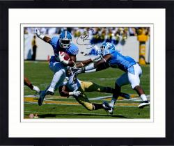 "Framed Giovani Bernard North Carolina Tar Heels Autographed 16"" x 20"" Horizontal Blue Uniform Photograph with Go Heels Inscription"