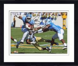 Framed Giovani Bernard North Carolina Tar Heels Autographed 8'' x 10'' Horizontal Blue Uniform Photograph