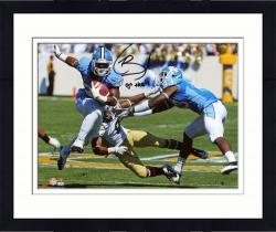 "Framed Giovani Bernard North Carolina Tar Heels Autographed 8"" x 10"" Horizontal Blue Uniform Photograph with Go Heels Inscription"