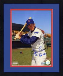 "Framed Glenn Beckert Chicago Cubs Autographed 8"" x 10"" Bat Pose Photograph with 69-72 All Star Inscription"