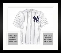 Framed Goose Gossage New York Yankees Autographed White Replica Pinstripe Jersey