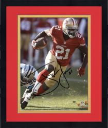 Framed Frank Gore San Francisco 49ers Autographed 8'' x 10'' Red Jersey Photograph