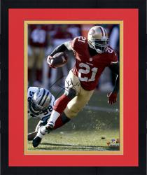 Framed Frank Gore San Francisco 49ers Autographed 16'' x 20'' Red Jersey Photograph