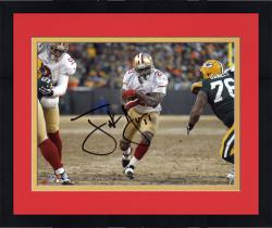 Framed Frank Gore San Francisco 49ers Autographed 8'' x 10'' White Jersey Photograph