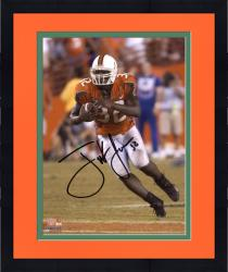 "Framed Frank Gore Miami Hurricanes Autographed 8"" x 10"" Orange Jersey Photograph"
