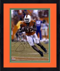 "Framed Frank Gore Miami Hurricanes Autographed 16"" x 20"" Orange Jersey Photograph"