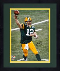 "Framed Green Bay Packers Super Bowl XLV Champions Aaron Rodgers Autographed 16"" x 20"" Photo"
