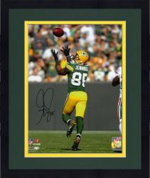 Framed Greg Jennings Green Bay Packers Autographed 8'' x 10'' Catching Back Shot Photograph