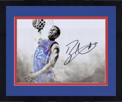 Framed GRIFFIN, BLAKE AUTO (CLIPPERS)  (WHITE OUT) 16X20 PHOTO - Mounted Memories